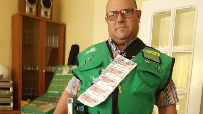 Francisco Píriz, vendedor de la ONCE en Alhama de Murcia