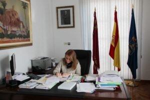 Mariola Guevara como alcaldesa en funciones