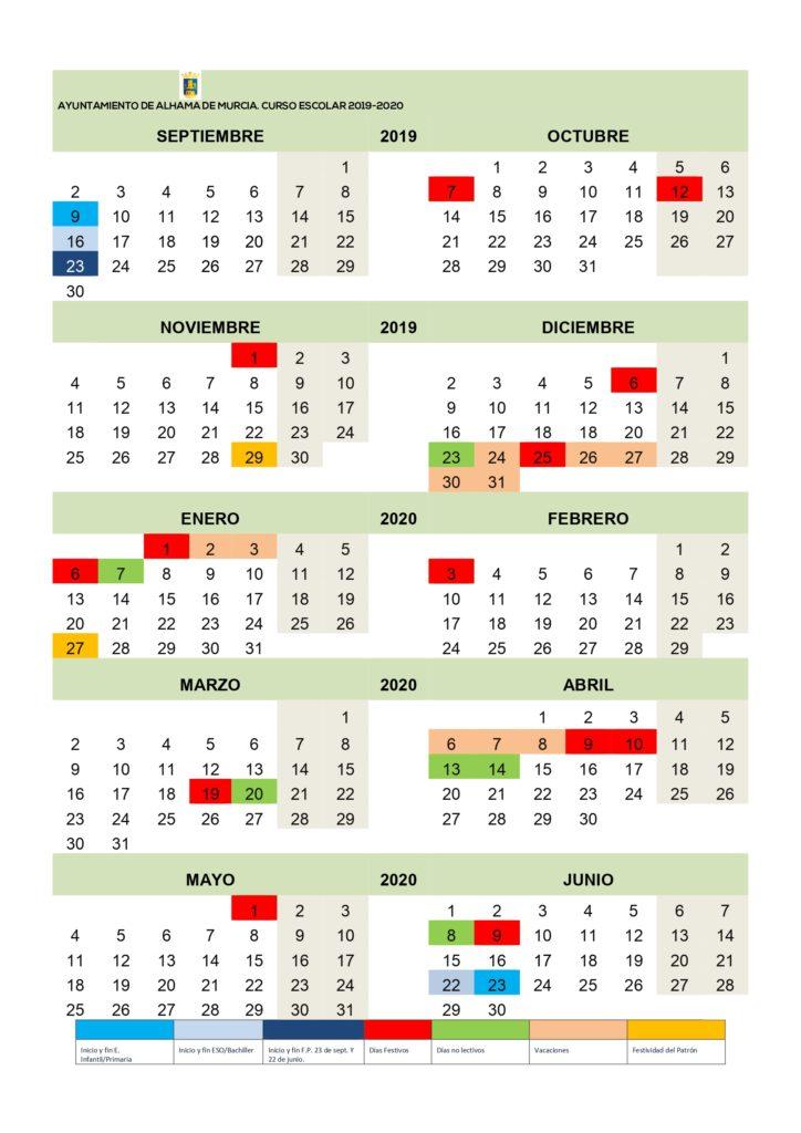 Calendario Escolar Murcia 2019.Consulta O Descarga El Calendario Escolar Para El Proximo Curso 2019